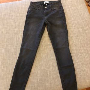 Paige Verdugo Ankle Skinny Jeans in Gray